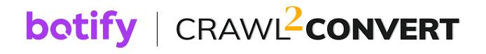 Botify and Crawl 2 Convert Logos