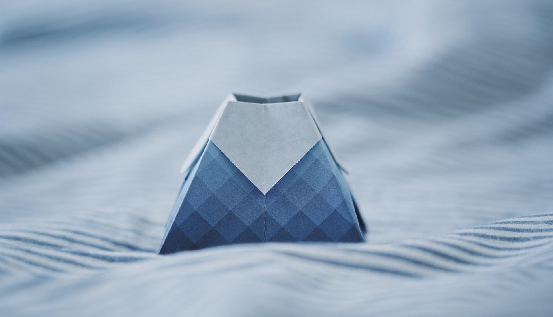 mountain-shaped origami