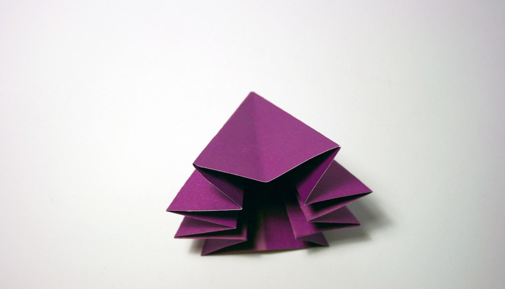 purple origami