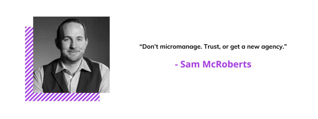 Sam McRoberts quote