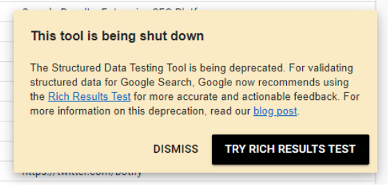 structured data testing tool going away