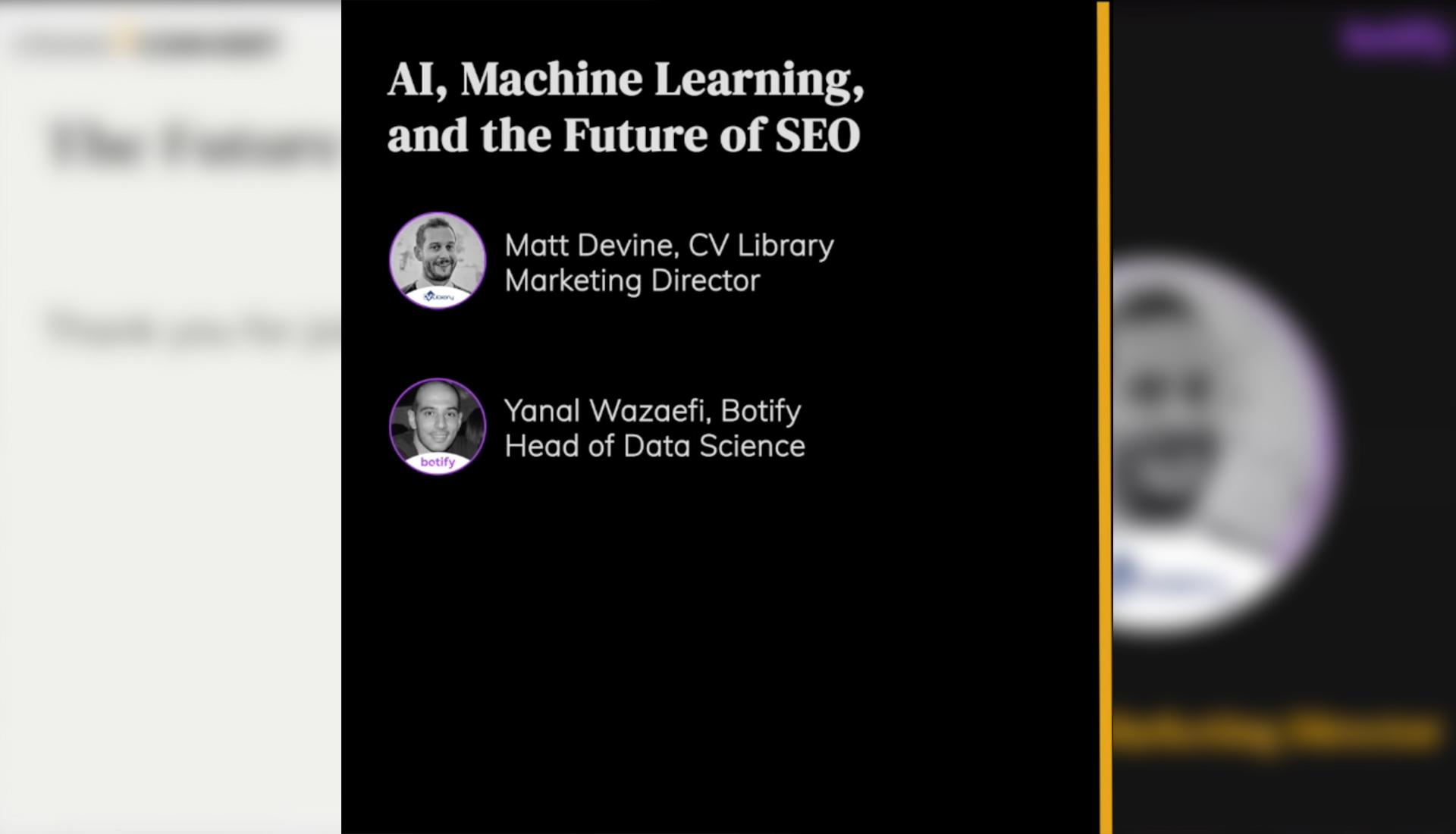 AI, Machine Learning, and the Future of SEO