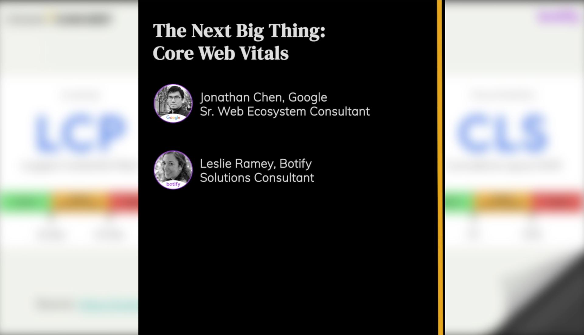 The Next Big Thing: Core Web Vitals