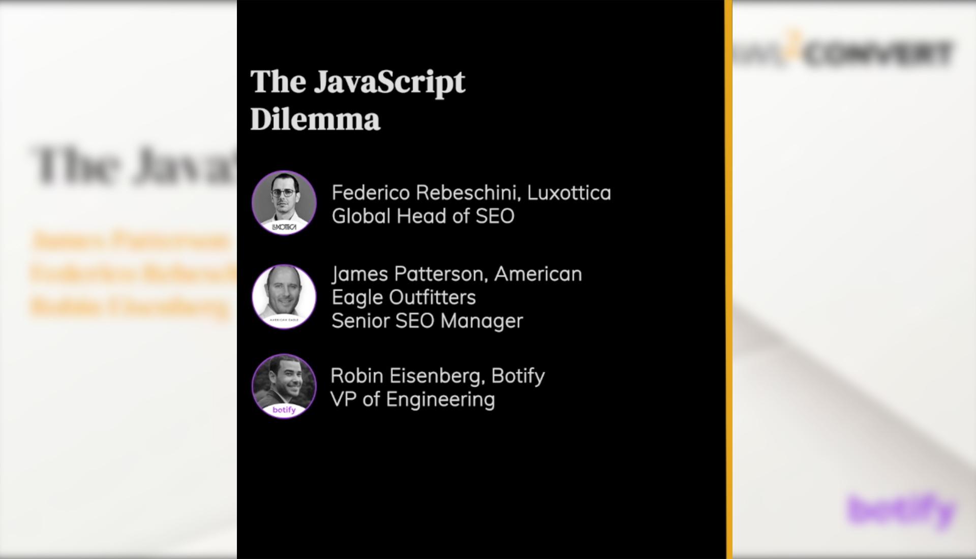 The JavaScript Dilemma