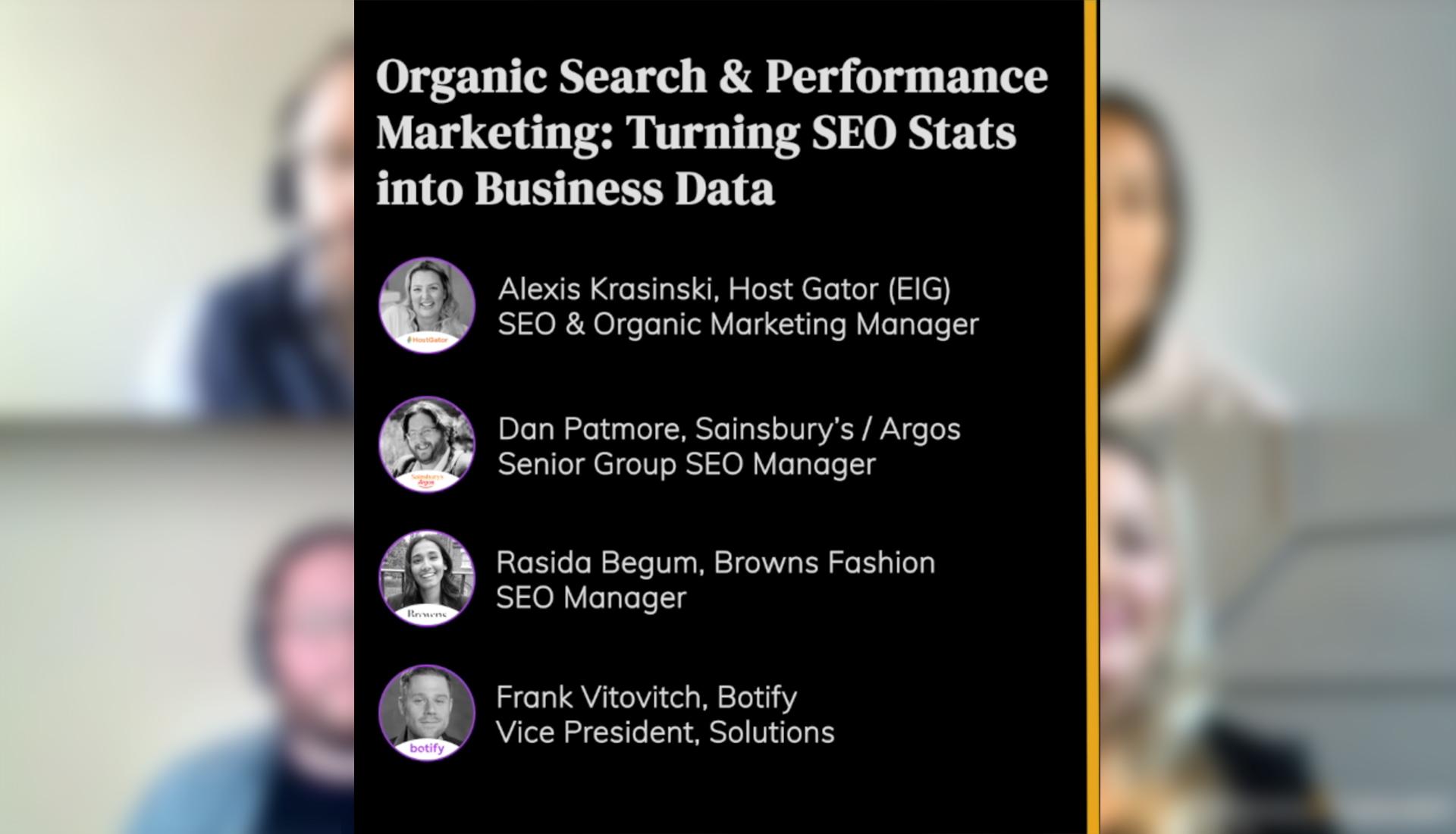 Organic Search & Performance Marketing: Turning SEO Stats into Business Data