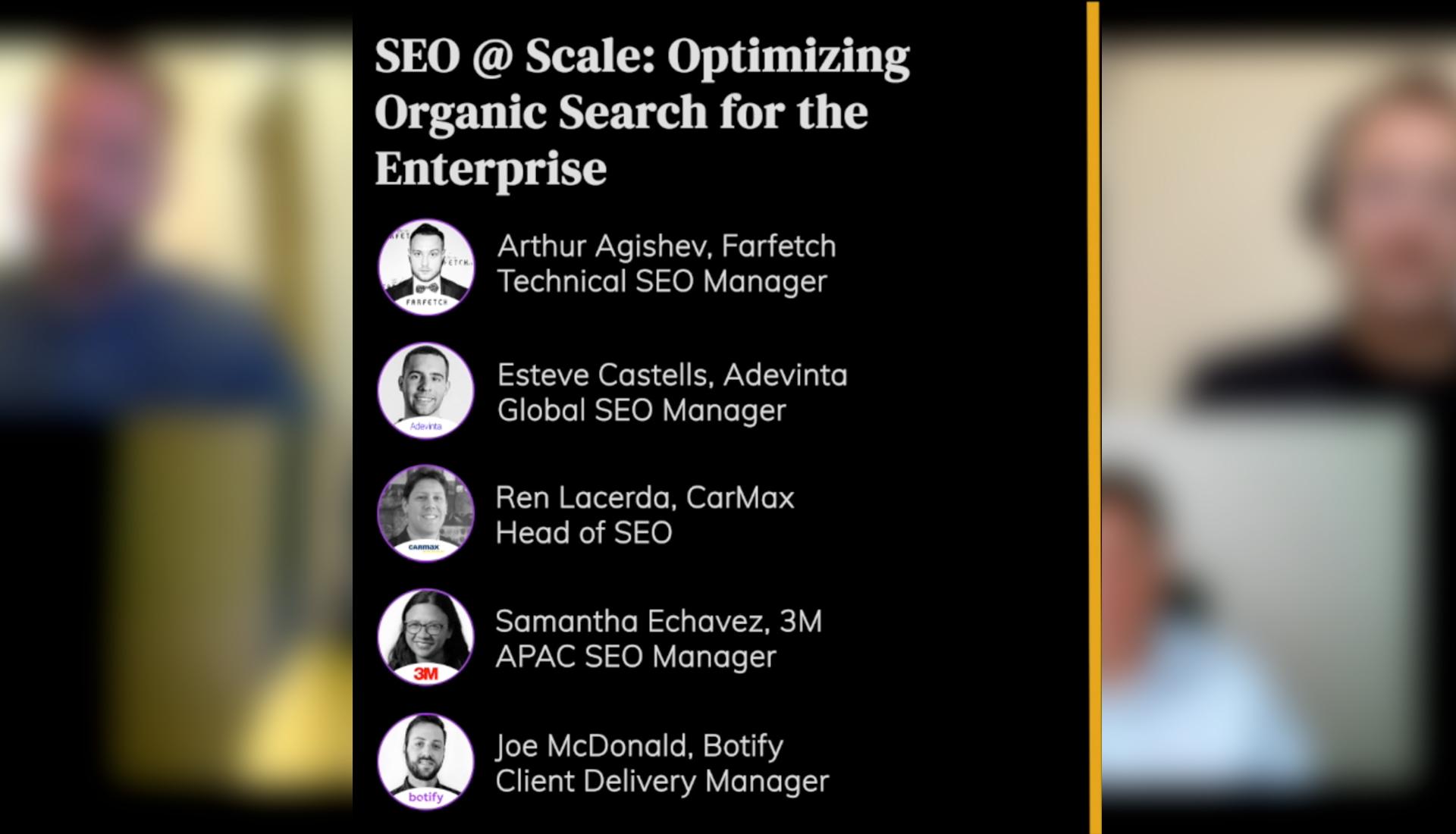 SEO @ Scale: Optimizing Organic Search for the Enterprise